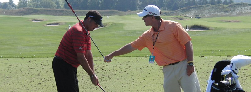 Mark Winkley with his student PGA Tour Player Pat Perez